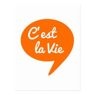 """El la de C'est compite, """"que es vida"""" arte francés Tarjeta Postal"""