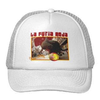 El La Furia Roja Raging Bull Futbol defiende 2008 Gorros Bordados
