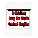Él la hija más grande… del mundo fácil de Aint Membrete Personalizado