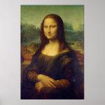 El La Joconde de Mona Lisa de Leonardo da Vinci Póster