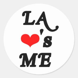 El LA me ama - Los Ángeles Pegatina Redonda