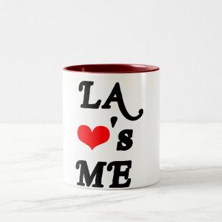 El LA me ama - Los Ángeles Taza De Café De Dos Colores