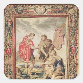 El lábaro, antes de 1663 calcomanía cuadradas personalizada