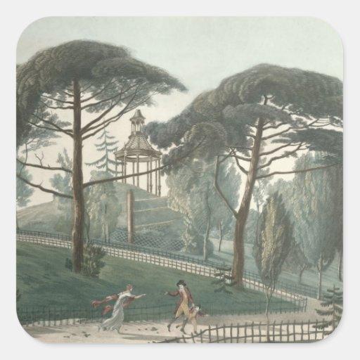 El laberinto o el belvedere del DES de Jardin Colcomanias Cuadradas