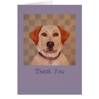 El laboratorio amarillo, Maggie le agradece noteca Tarjeta De Felicitación