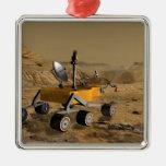 El laboratorio de ciencia de Marte viaja cerca de Adorno Navideño Cuadrado De Metal