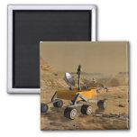El laboratorio de ciencia de Marte viaja cerca de Imán Cuadrado