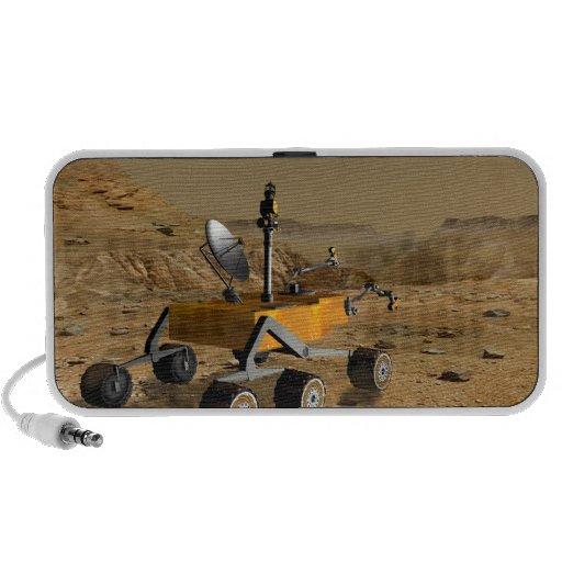 El laboratorio de ciencia de Marte viaja cerca de iPhone Altavoces