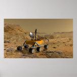 El laboratorio de ciencia de Marte viaja cerca de Póster