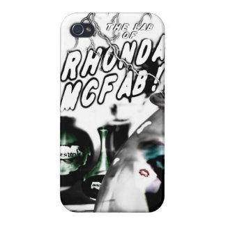 ¡El laboratorio de Rhonda McFab! caso del iphone iPhone 4 Fundas