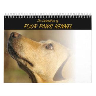 El Labradors de la perrera de cuatro patas Calendarios