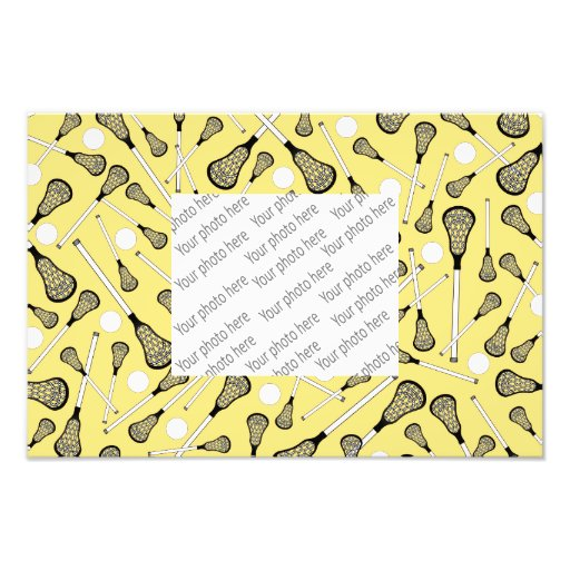 El lacrosse amarillo en colores pastel pega el mod impresión fotográfica