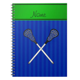 El lacrosse conocido personalizado pega rayas azul