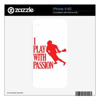 el lacrosse se divierte diseños skin para el iPhone 4S