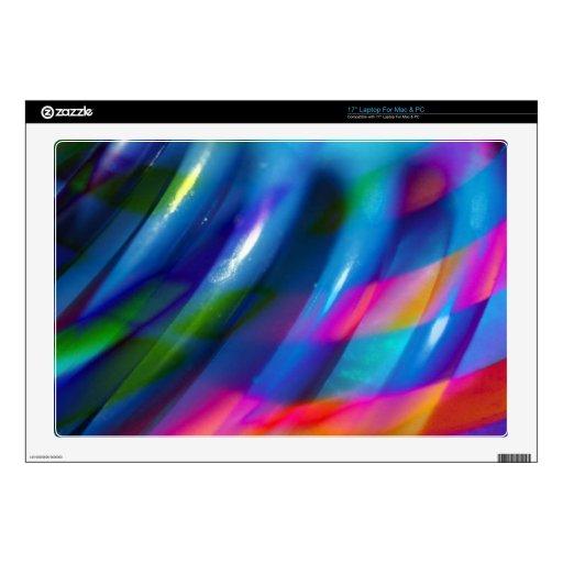 El lado barrió colorido artístico portátil 43,2cm skin