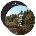 El lado del país del botón de la vida pins