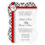 El lado elegante del damasco confina el boda de la invitacion personal