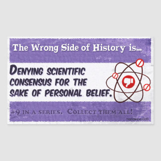El lado incorrecto de la historia #9 pegatina rectangular