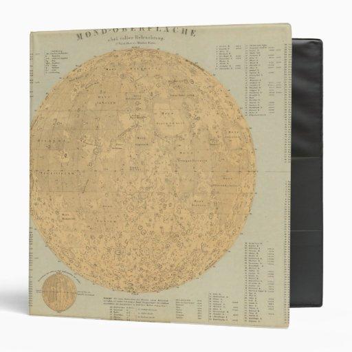 """El lado visible del mapa superficial de la luna carpeta 1 1/2"""""""