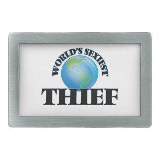 El ladrón más atractivo del mundo hebillas de cinturón rectangulares