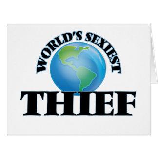 El ladrón más atractivo del mundo felicitación