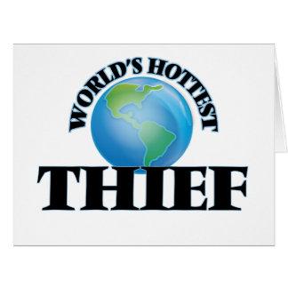 El ladrón más caliente del mundo tarjeta
