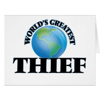 El ladrón más grande del mundo tarjeta
