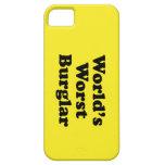 El ladrón peor del mundo iPhone 5 Case-Mate protectores