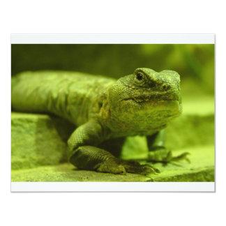 """El lagarto verde invitación 4.25"""" x 5.5"""""""