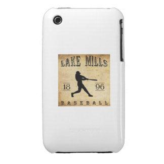 El lago 1896 muele el béisbol de Wisconsin Case-Mate iPhone 3 Cárcasa