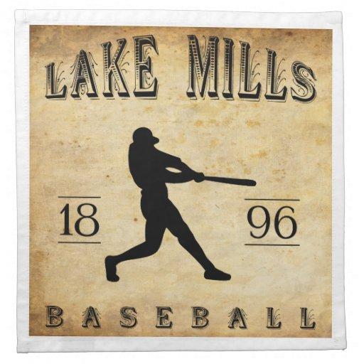 El lago 1896 muele el béisbol de Wisconsin Servilleta Imprimida