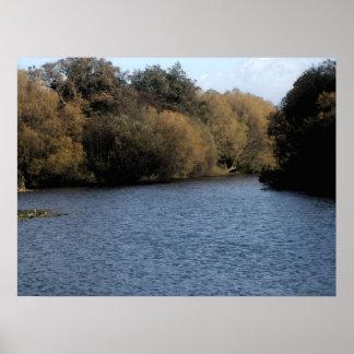 El lago (acuarela) impresiones