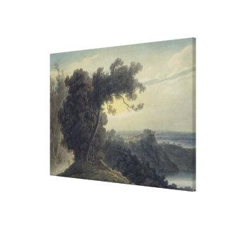 El lago de Albano y del castillo Gandolfo, c.1783- Lienzo Envuelto Para Galerías
