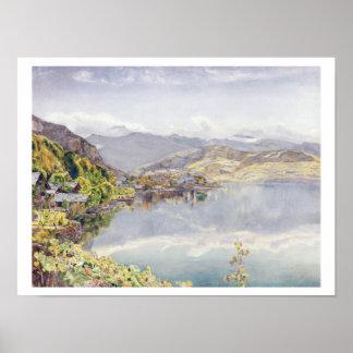 El lago de Alfalfa soporte Pilatus en la distanci Poster