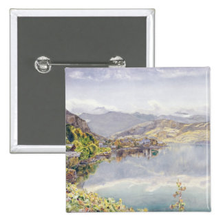 El lago de Alfalfa, soporte Pilatus en la distanci Pin Cuadrado
