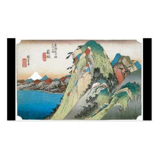 El lago en Hakone, Japón. Circa 1831-1834. Tarjeta De Visita