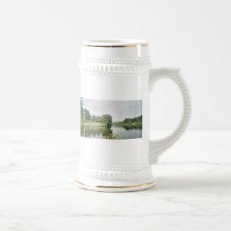 El lago en Illinois Taza De Café