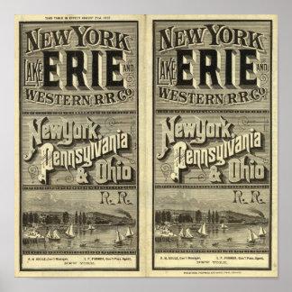El lago Erie y ferrocarril occidental Poster