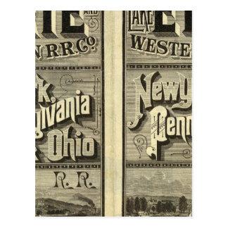 El lago Erie y ferrocarril occidental Tarjetas Postales