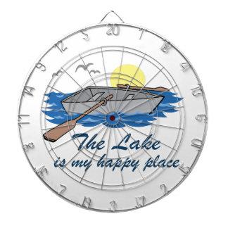 El lago es mi lugar feliz tablero dardos