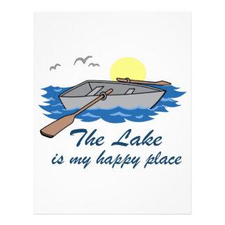 El lago es mi lugar feliz membrete
