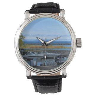 El lago Hurón Collingwood Ontario Reloj