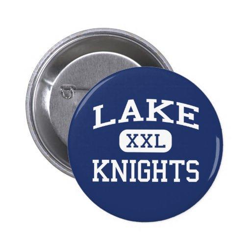 El lago Knights la escuela secundaria Denver Color Pin Redondo 5 Cm