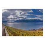El lago Lemán (laca Léman) 011 Póster