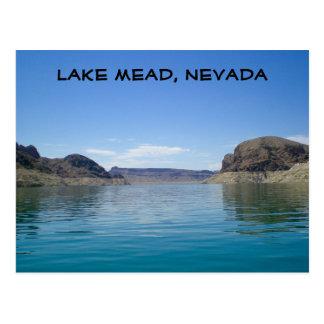 El lago Mead cerca de Las Vegas Nevada Tarjeta Postal