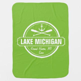 El lago Michigan, ciudad de encargo, nombre, Mantas De Bebé