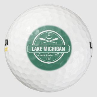 El lago Michigan, ciudad de encargo, nombre, Pack De Pelotas De Golf