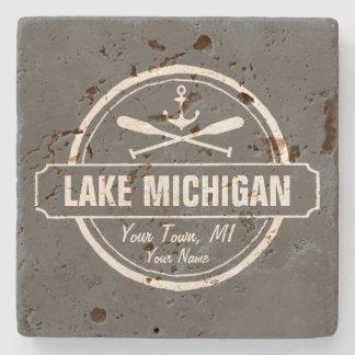 El lago Michigan, ciudad de encargo, nombre, Posavasos De Piedra