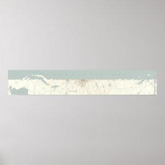 El lago Michigan desplegado, horizontal Póster