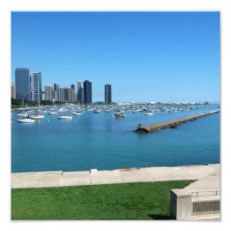 El lago Michigan en la foto de Chicago